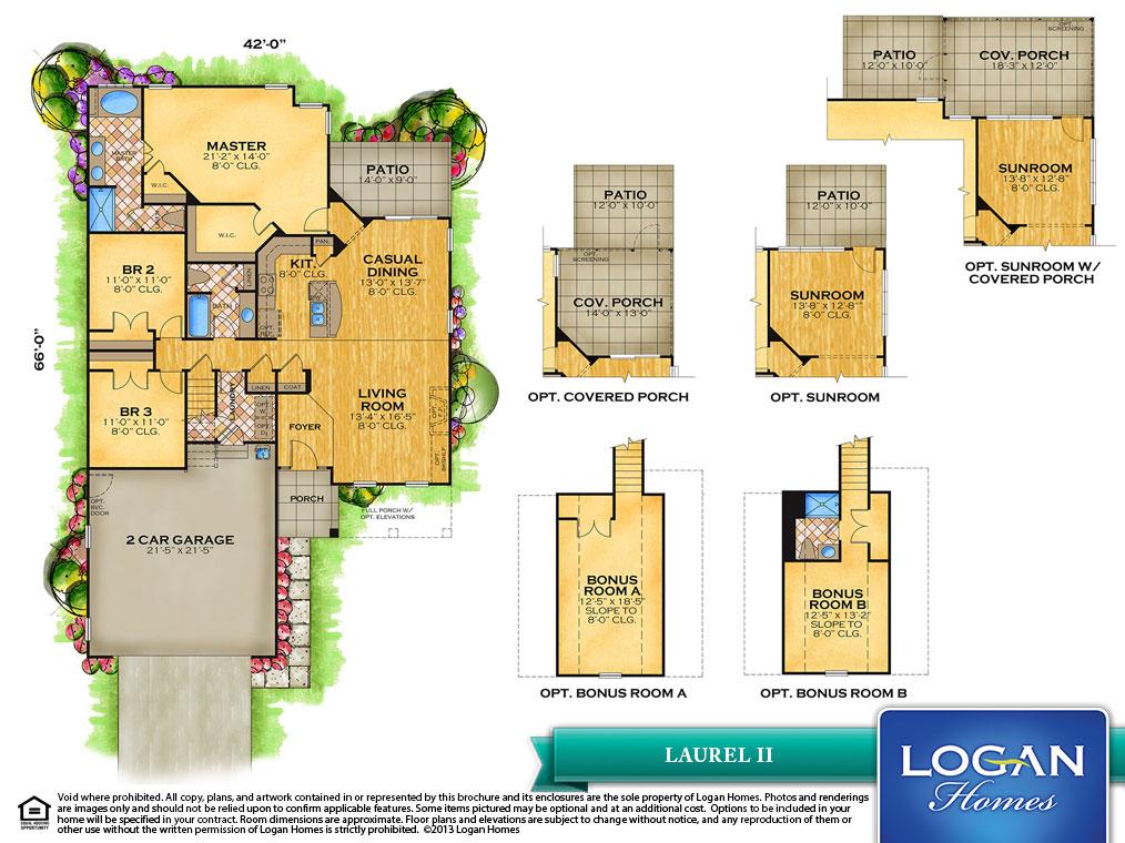 Laurel Ii Floor Plan Models Logan Homes