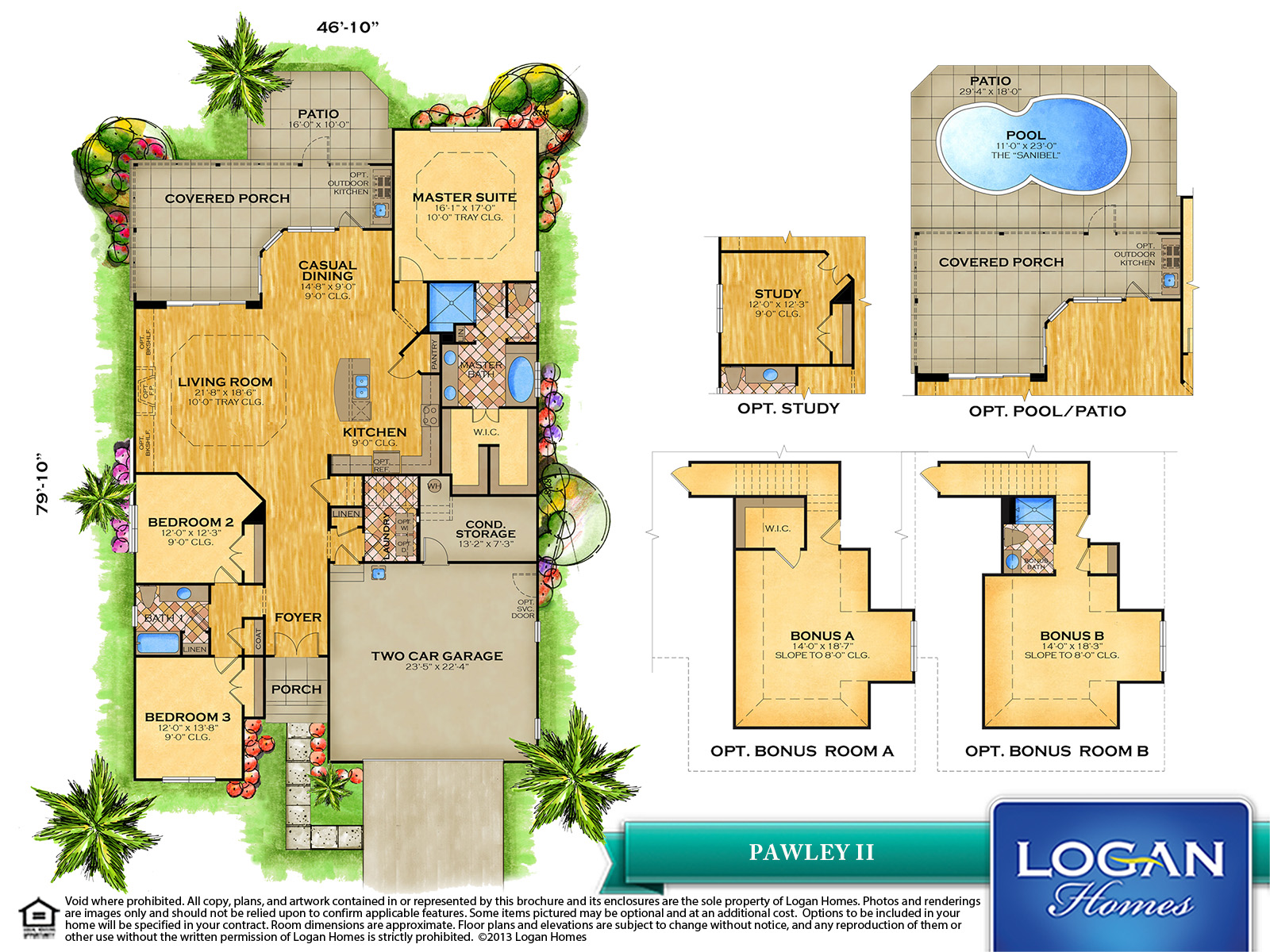 Pawley Ii Floor Plan Models Logan Homes