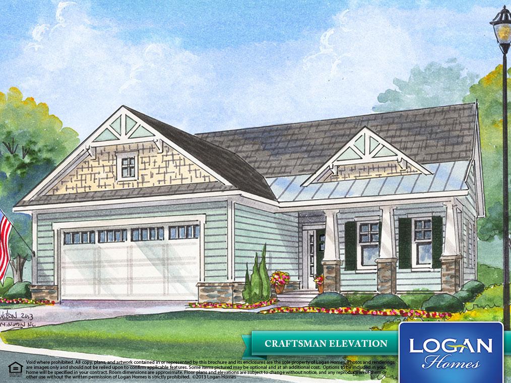 Laurel ii floor plan models logan homes for Laurel river house plan