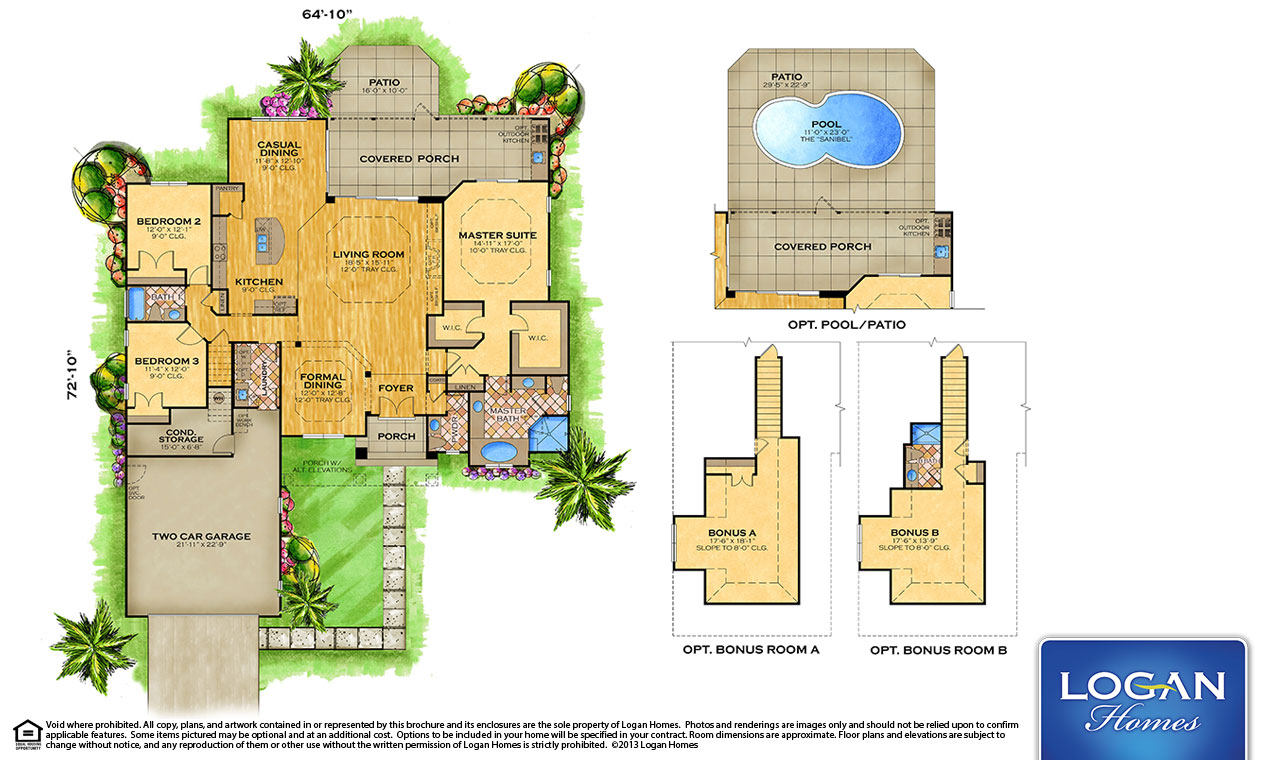 Tavilla Ii Floor Plan Models Logan Homes