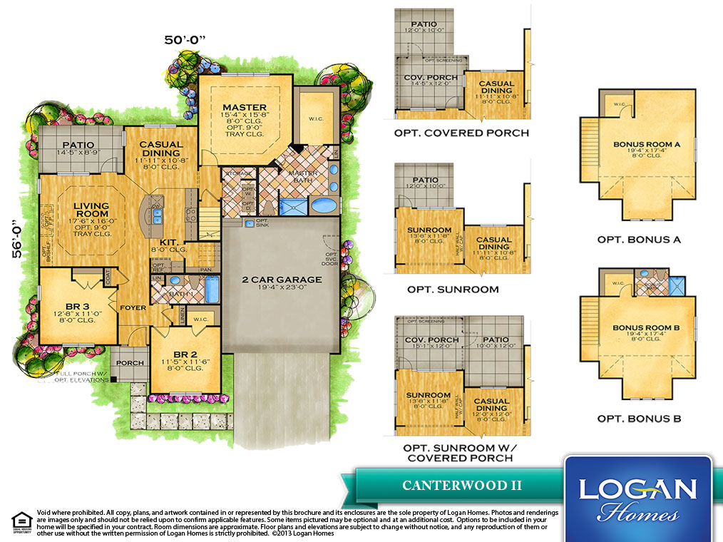 Canterwood Ii Floor Plan Models Logan Homes